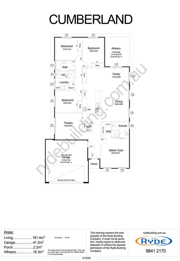 Cumberland Floor Plan